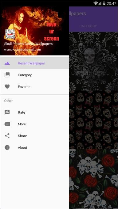 Skull Pattern Gothic Wallpapers poster