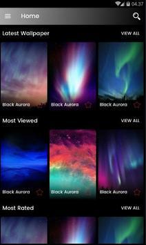 Black Aurora Wallpaper HD screenshot 5