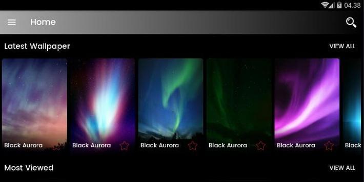 Black Aurora Wallpaper HD screenshot 12
