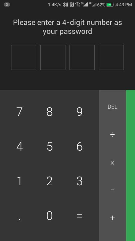 calculator app hider