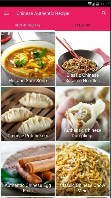 Chinese Authentic Recipes poster