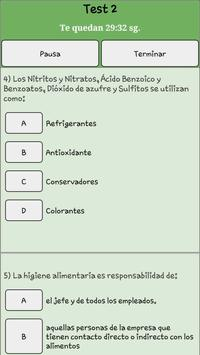 Manipulador De Alimentos Test screenshot 4