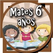 Matemáticas 6 años icon