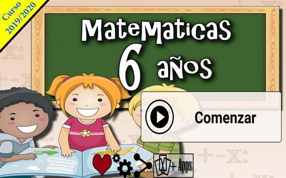 Matemáticas 6 años poster