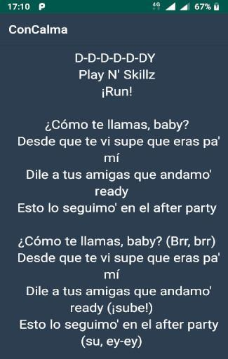 daddy yankee con calma lyrics