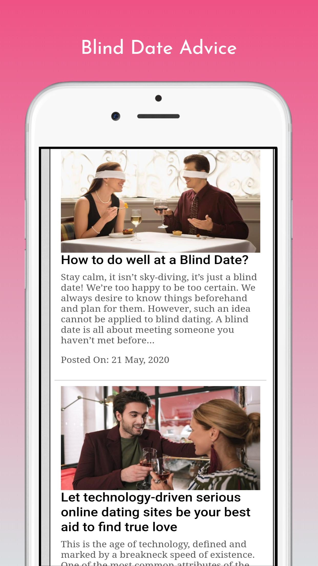 blind dating app android)