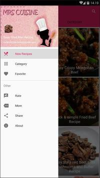 Easy Fried Beef Recipe screenshot 1