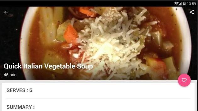 Easy Italian Soup Cook Recipe screenshot 4
