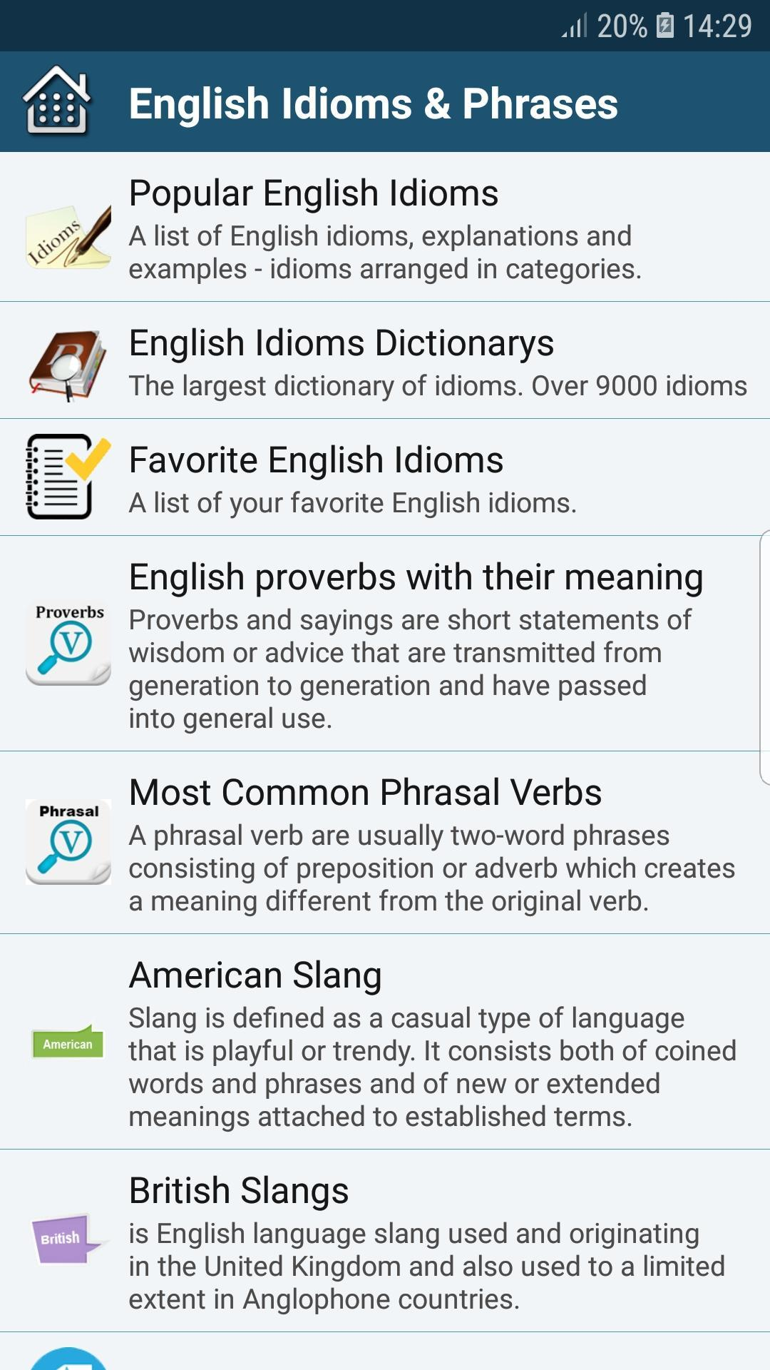 All English Idioms & Phrases for Android - APK Download