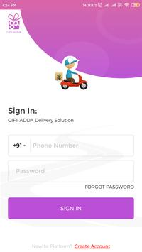 GiftAdda - Driver App poster