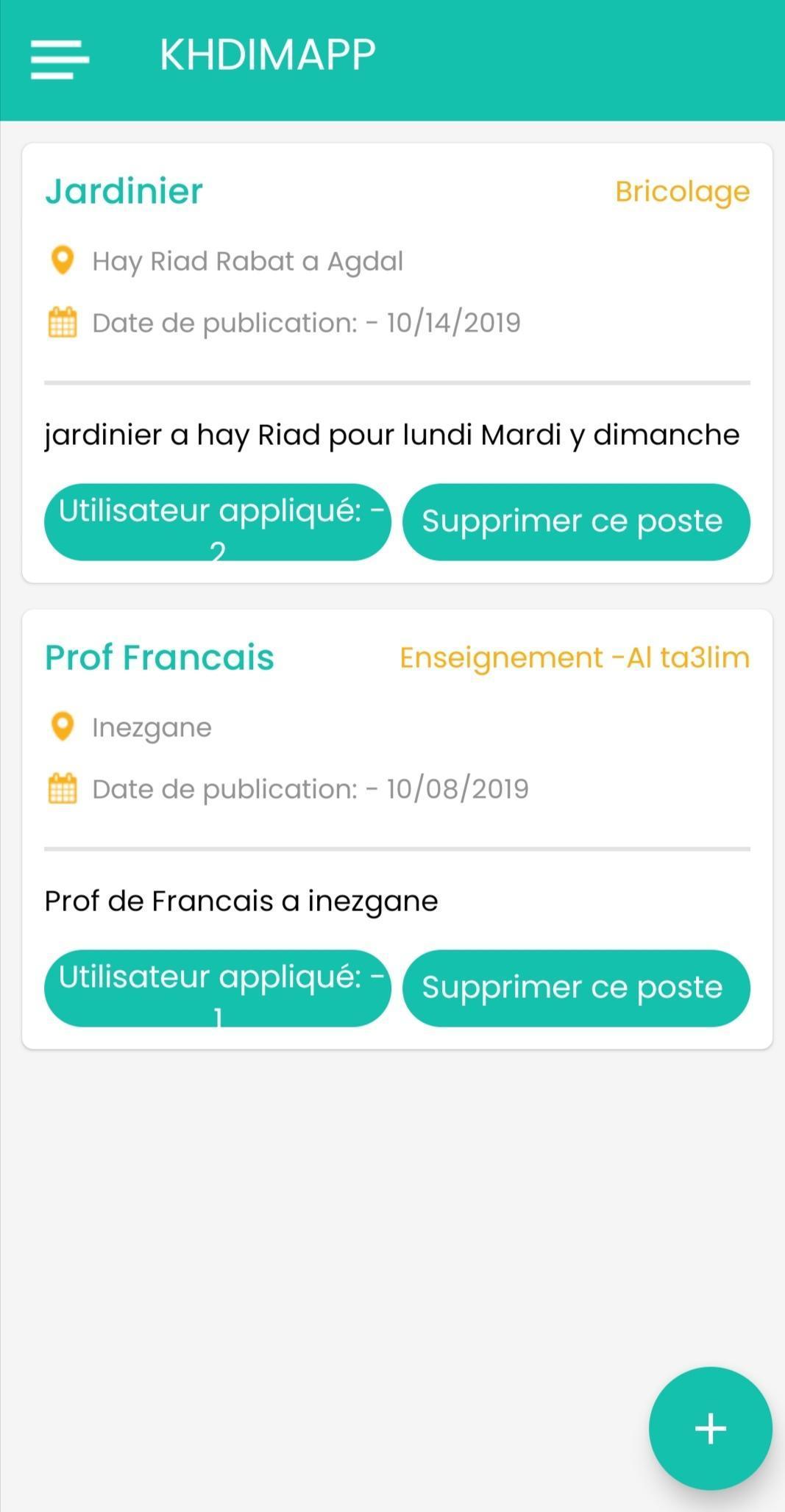 Trouver Un Jardinier A Domicile job - khdima lyouma for android - apk download