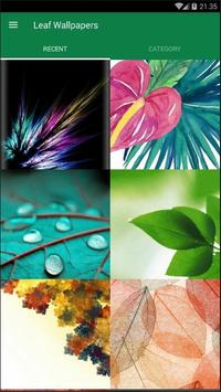 Leaf Abstract Wallpaper poster