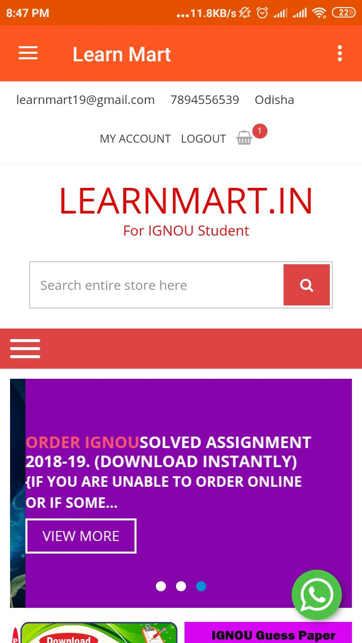 Learn Mart For IGNOU Student poster