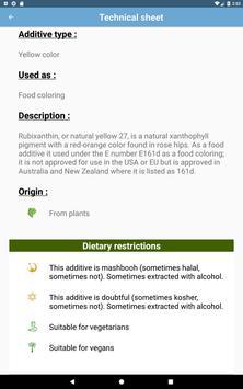 Food additives screenshot 8