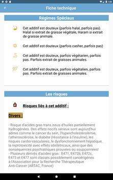 Additifs alimentaires capture d'écran 14