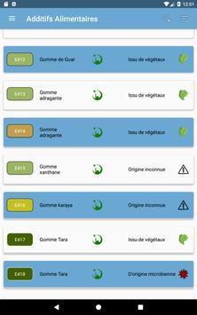 Additifs alimentaires capture d'écran 8
