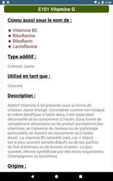 Additifs alimentaires capture d'écran 10