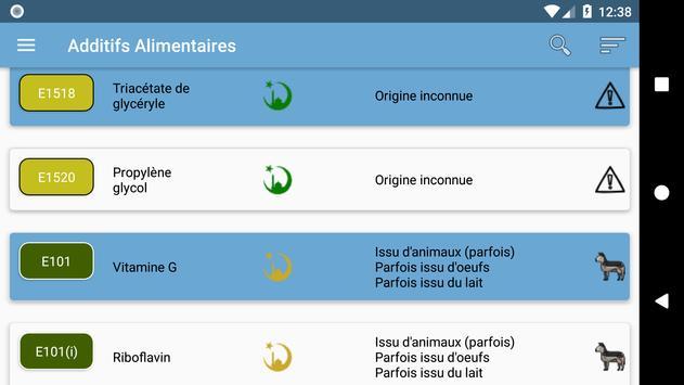 Additifs alimentaires screenshot 7