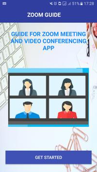 Guide For Zoom CLOUD MEETINGS AND CONFERENCING poster