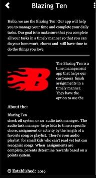 Blazing Ten Time Manger poster