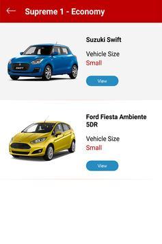 Supreme Car Rentals screenshot 2