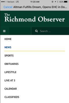 Richmond Observer screenshot 2