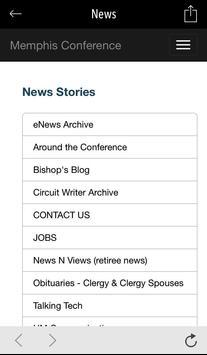 Memphis Conference UMC screenshot 2