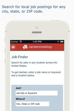 CareerOneStop Mobile screenshot 1