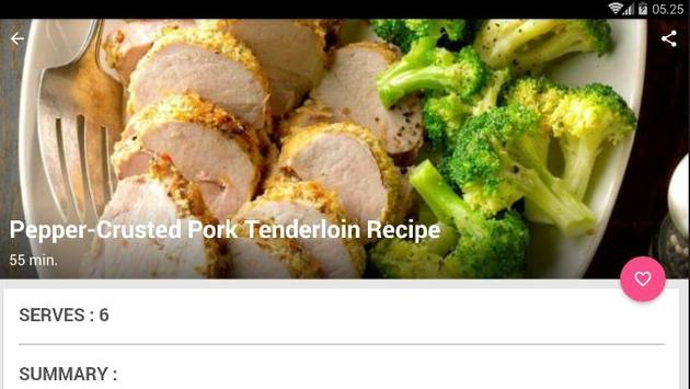 Pepper Crusted Pork Tenderloin Recipe screenshot 5