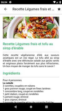 Recettes végétarienne screenshot 2