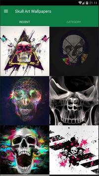 Skull Art Abstract Wallpaper poster