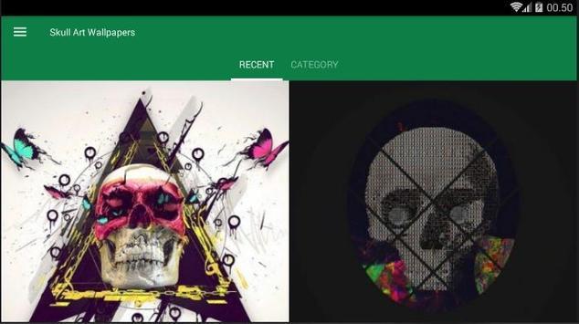 Skull Art Abstract Wallpaper screenshot 3