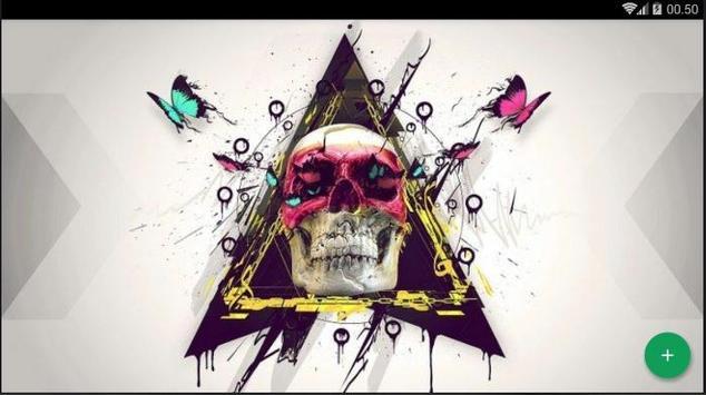 Skull Art Abstract Wallpaper screenshot 4