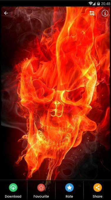 Flame Skull Wallpaper Hd For Android Apk Download