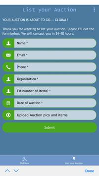 Silent Auction App screenshot 1