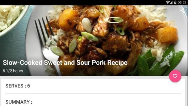 Slow Cooked Sweet and Sour Pork Recipe screenshot 5