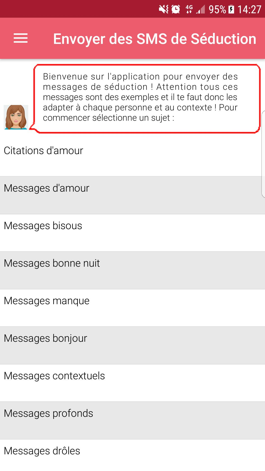 Sms Séduction 2019 Messages De Drague Pour Android