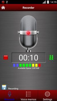 Enregistreur vocal capture d'écran 2