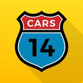 14CARS Autohuur-App. Vergelijk huurauto's in de VS-icoon