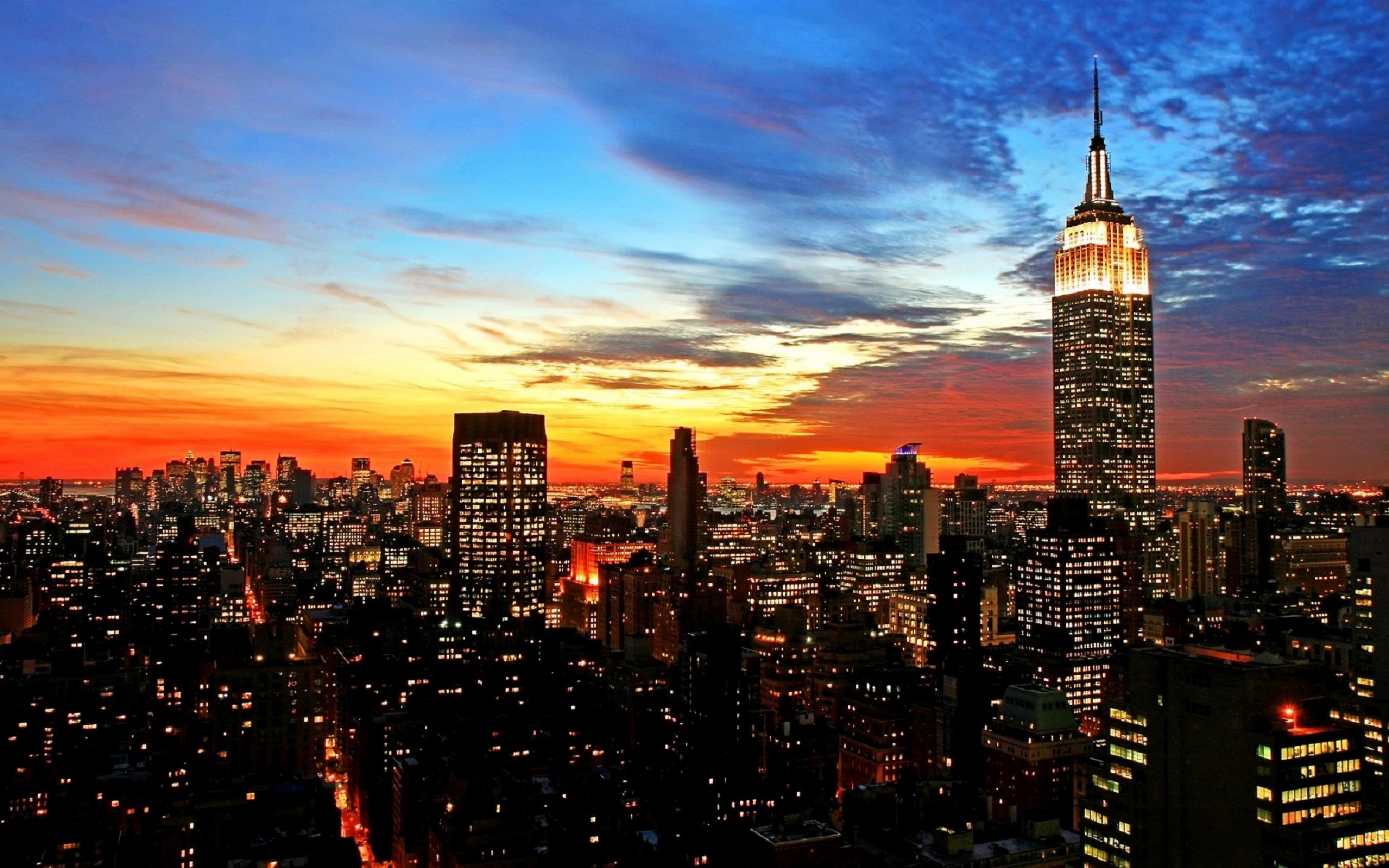 Нью йорк ночной в картинках