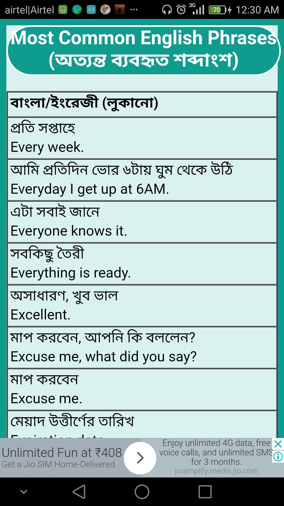 You Say In Bengali