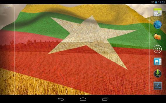 Myanmar Flag screenshot 6