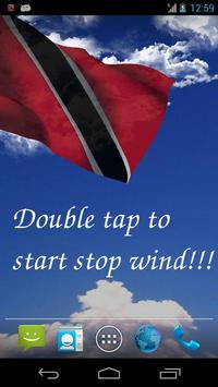 3D Trinidad & Tobago Flag Live Wallpaper poster