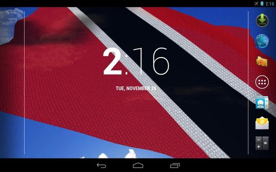 3D Trinidad & Tobago Flag Live Wallpaper screenshot 7