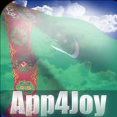 3D Turkmenistan Flag Live Wallpaper icon