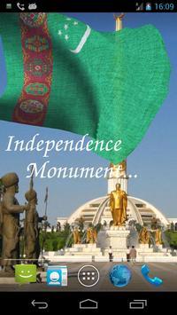 3D Turkmenistan Flag Live Wallpaper screenshot 1