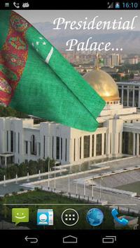 3D Turkmenistan Flag Live Wallpaper screenshot 2