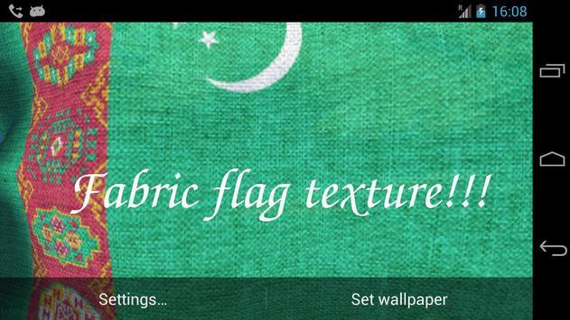 3D Turkmenistan Flag Live Wallpaper screenshot 5