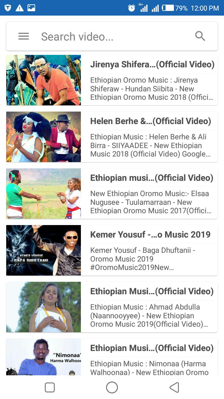 Oromo Music Video for Android - APK Download