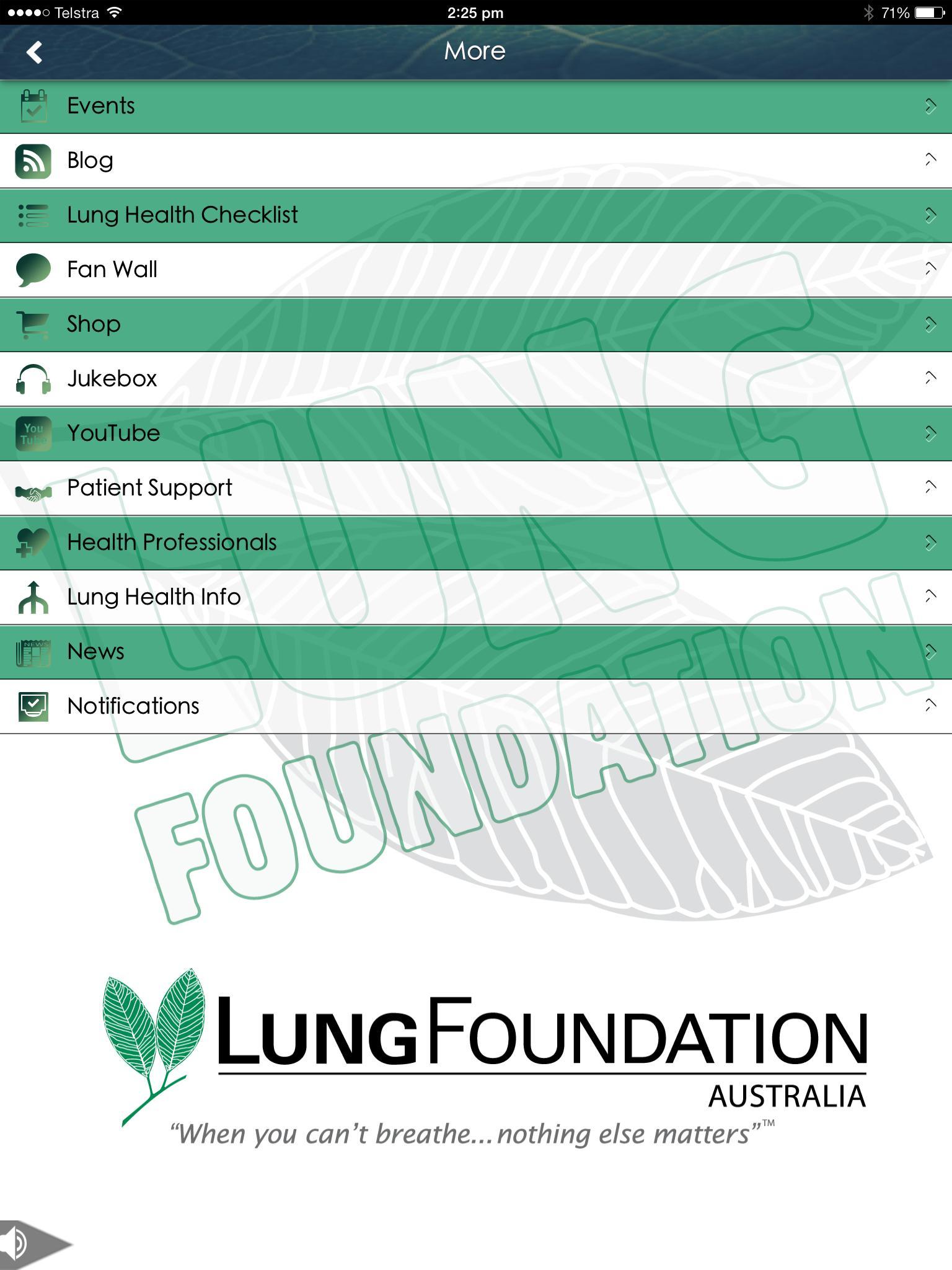 Lung Foundation Australia poster